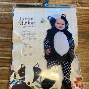NWT Toddler Skunk Halloween Costume